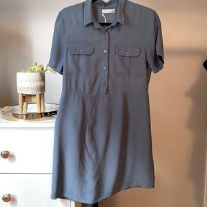 Urban Outfitters Blue Button Down T-Shirt Dress